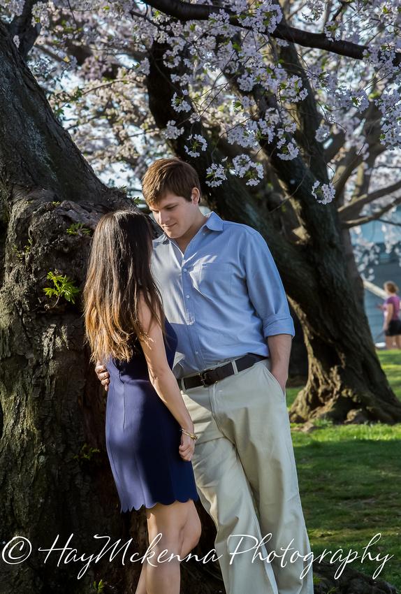 Cherry Blossom Engagement 06